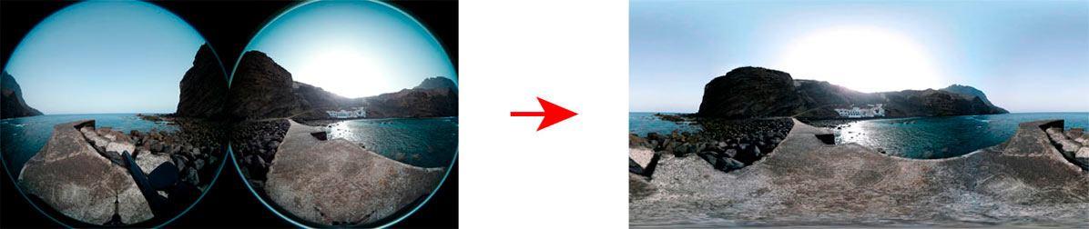 El proceso de stichting en la fotografía 360
